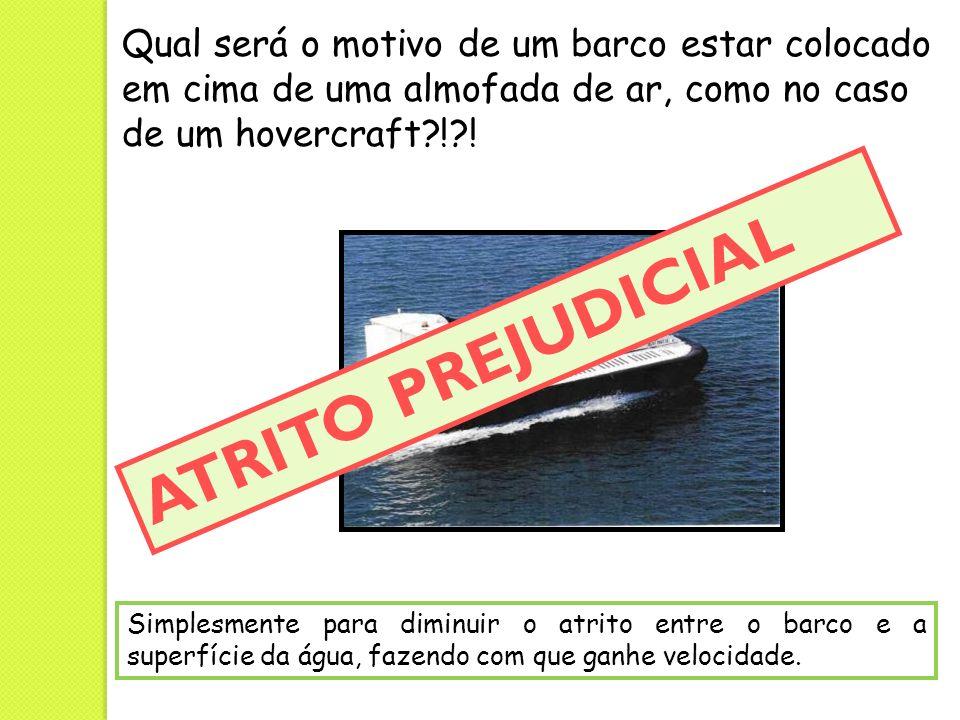 Qual será o motivo de um barco estar colocado em cima de uma almofada de ar, como no caso de um hovercraft ! !