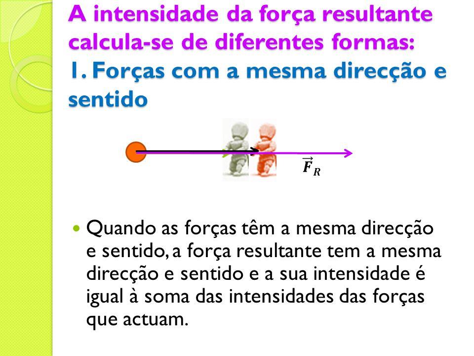 A intensidade da força resultante calcula-se de diferentes formas: 1