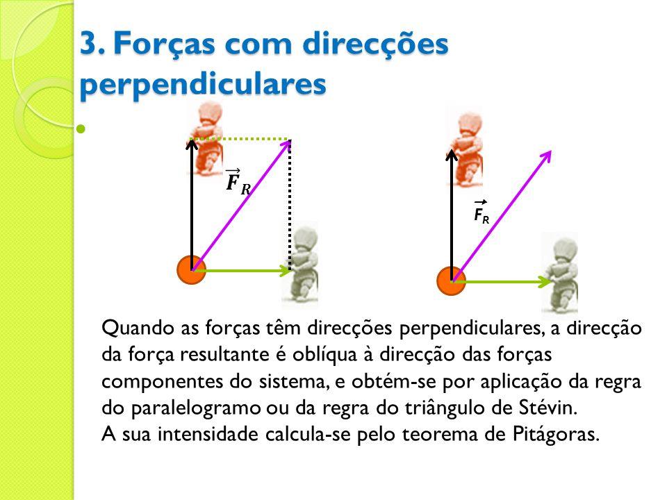 3. Forças com direcções perpendiculares
