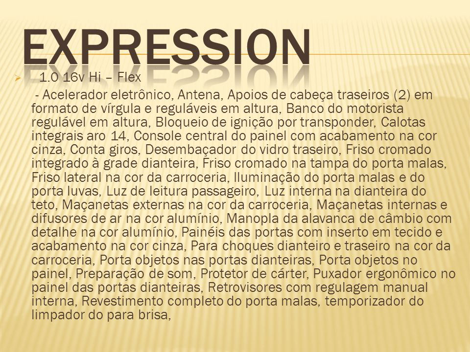 EXPRESSION 1.0 16v Hi – Flex.