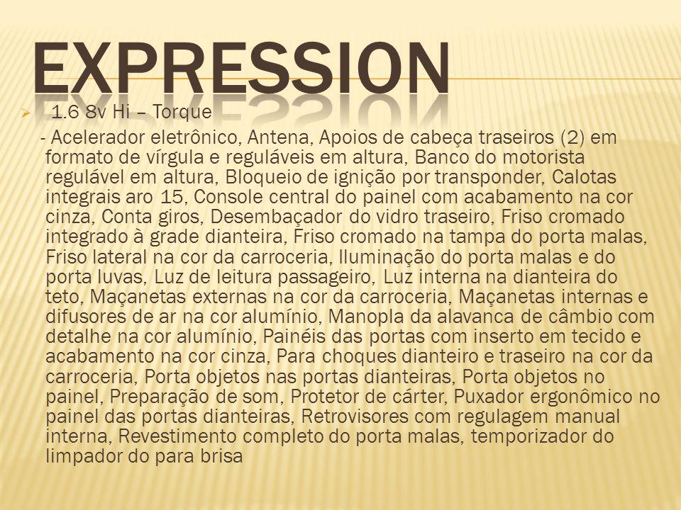 EXPRESSION 1.6 8v Hi – Torque