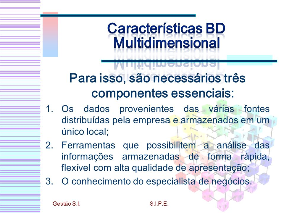 Características BD Multidimensional