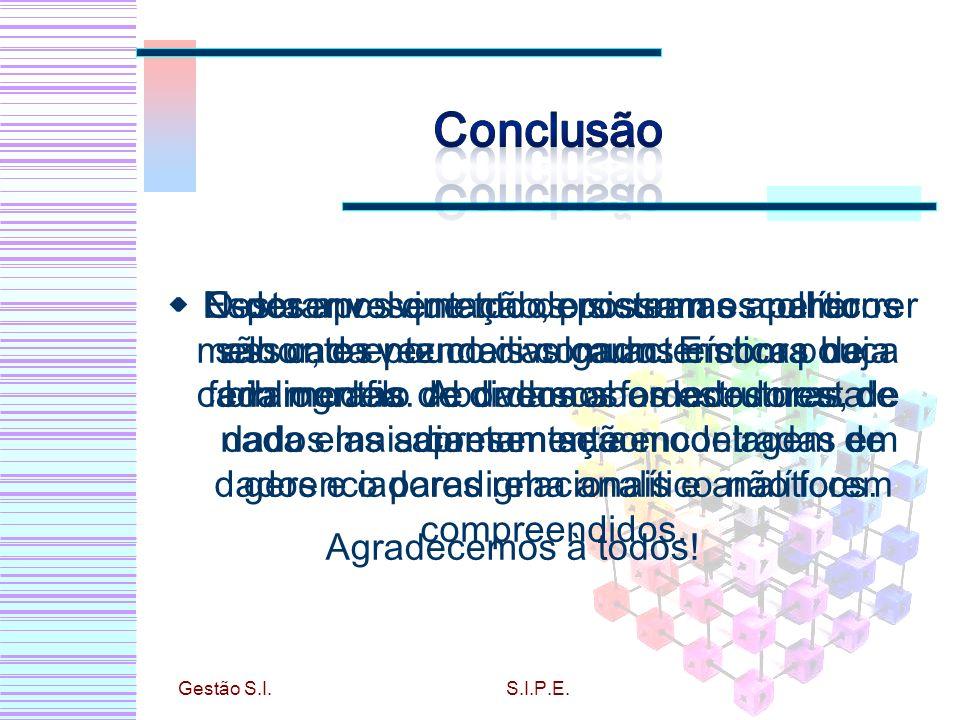 Conclusão Esperamos que todos possam escolher melhor, e entender as características de cada modelo de dados abordados nesta apresentação.