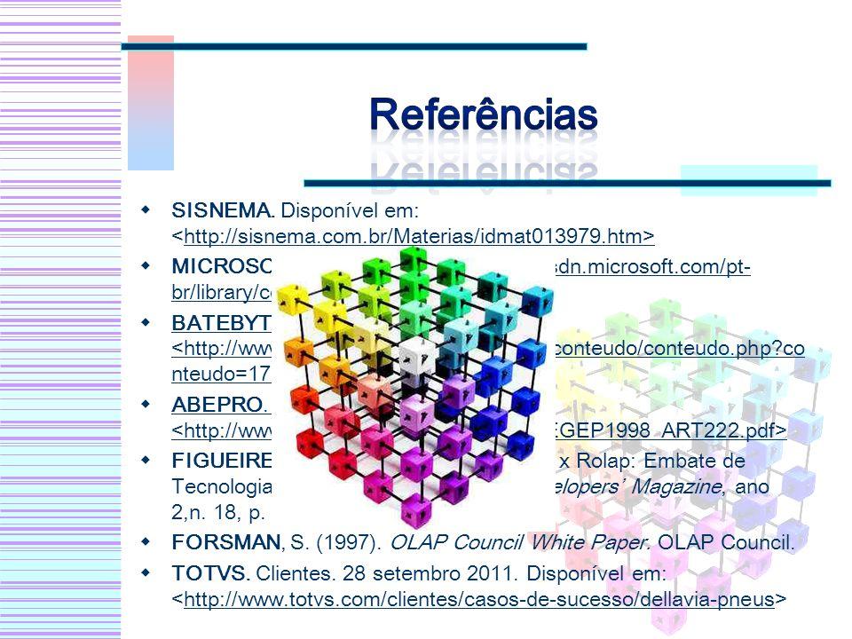 Referências SISNEMA. Disponível em: <http://sisnema.com.br/Materias/idmat013979.htm>