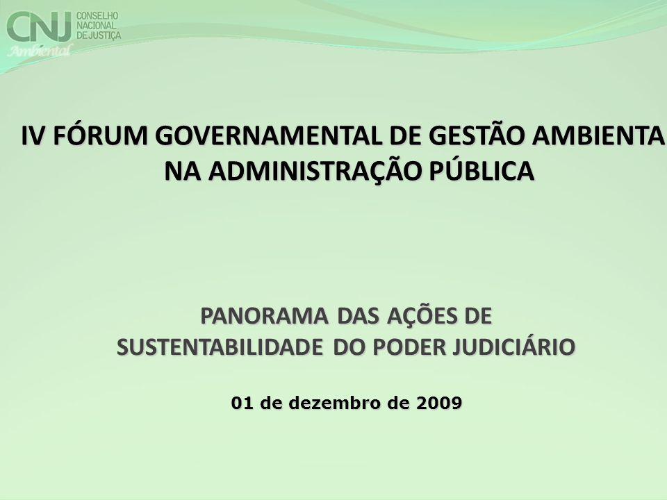 IV FÓRUM GOVERNAMENTAL DE GESTÃO AMBIENTAL NA ADMINISTRAÇÃO PÚBLICA