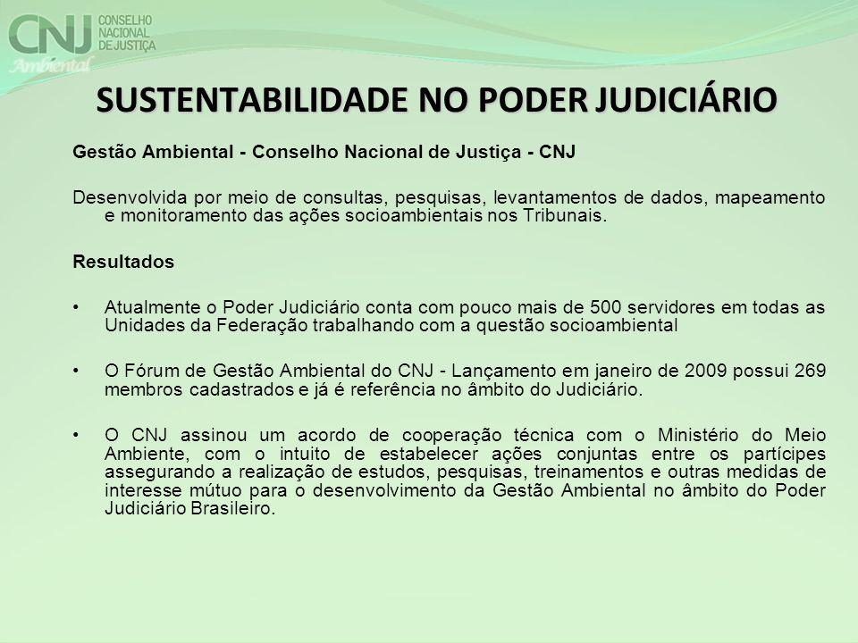 SUSTENTABILIDADE NO PODER JUDICIÁRIO