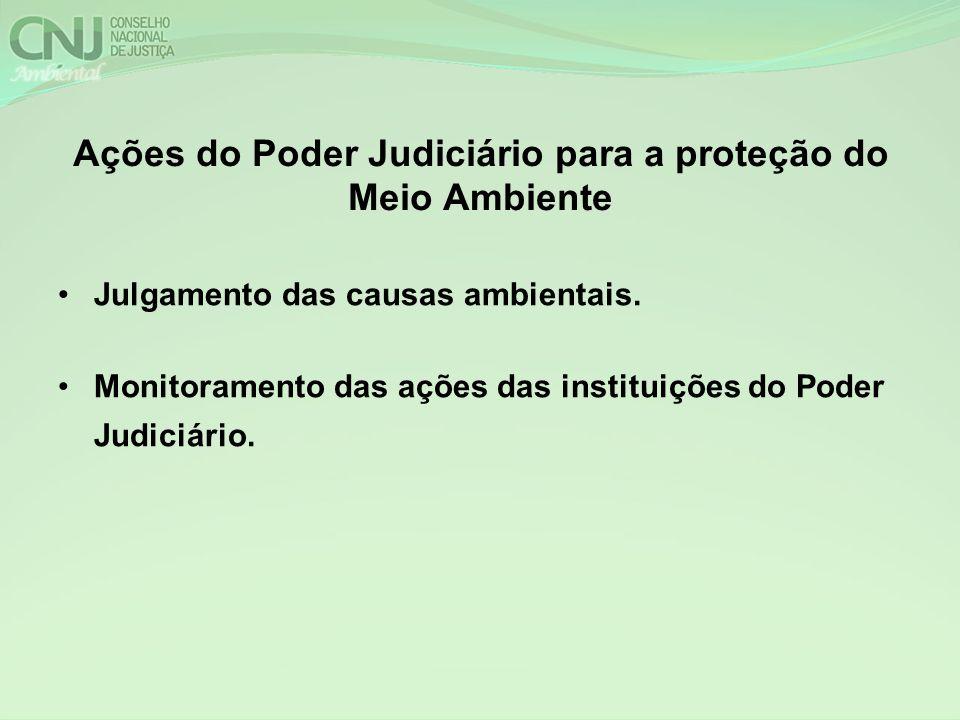 Ações do Poder Judiciário para a proteção do Meio Ambiente