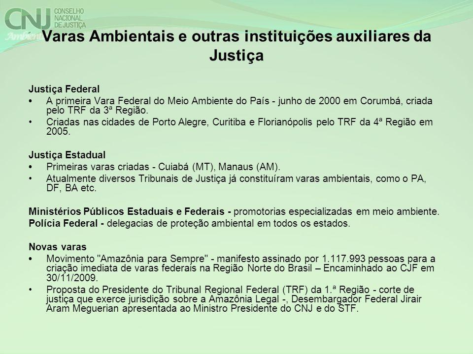 Varas Ambientais e outras instituições auxiliares da Justiça