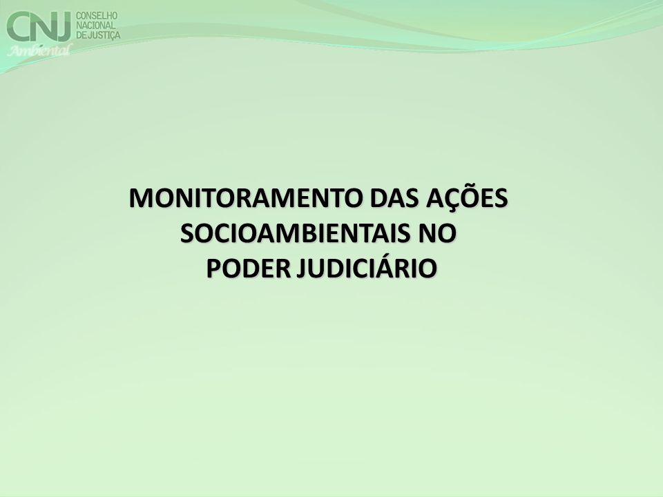 MONITORAMENTO DAS AÇÕES SOCIOAMBIENTAIS NO PODER JUDICIÁRIO