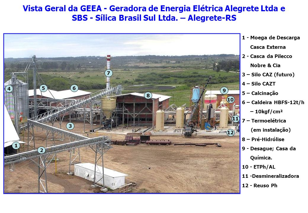 Vista Geral da GEEA - Geradora de Energia Elétrica Alegrete Ltda e