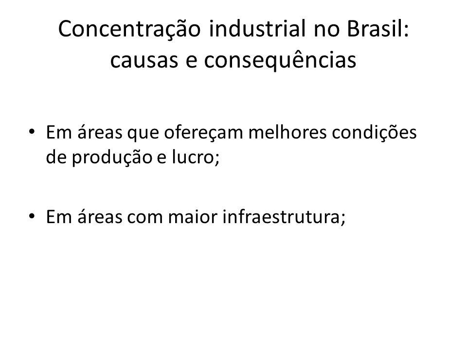 Concentração industrial no Brasil: causas e consequências