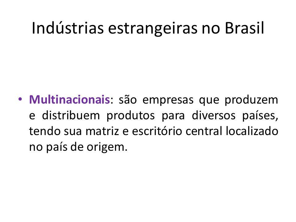 Indústrias estrangeiras no Brasil