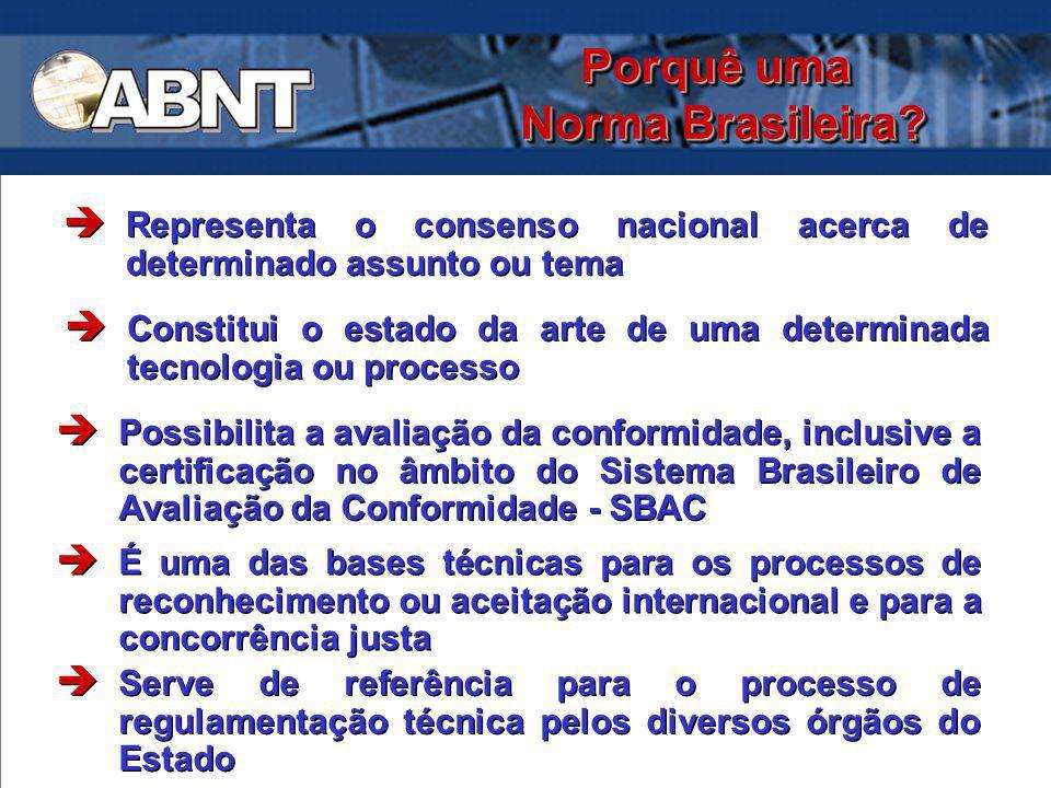 Porquê uma Norma Brasileira