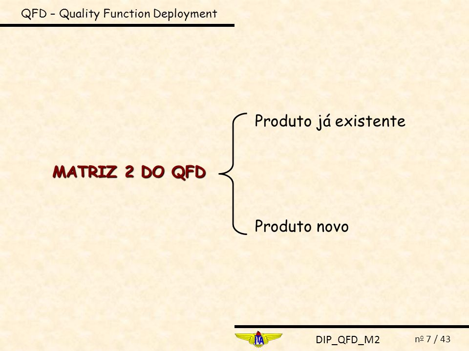 QFD – Quality Function Deployment