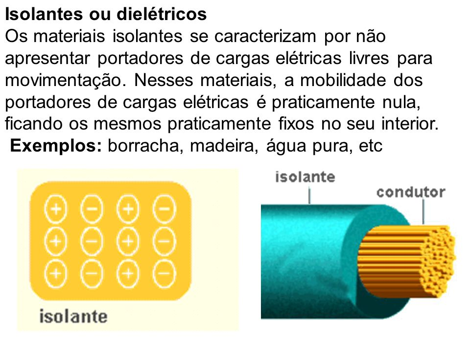 Isolantes ou dielétricos