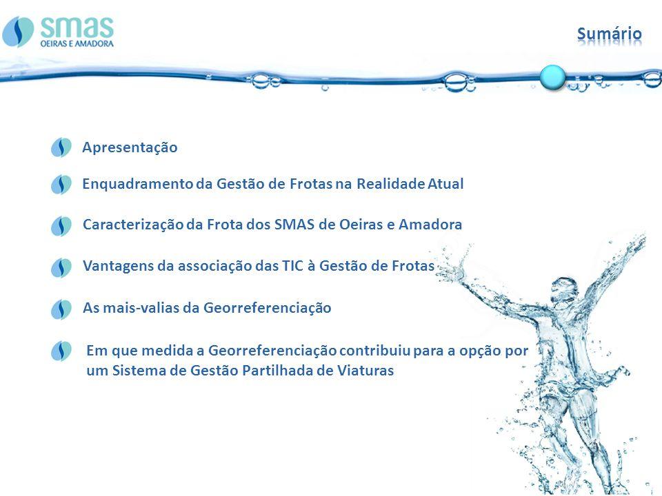 Sumário Vantagens da associação das TIC à Gestão de Frotas. Caracterização da Frota dos SMAS de Oeiras e Amadora.