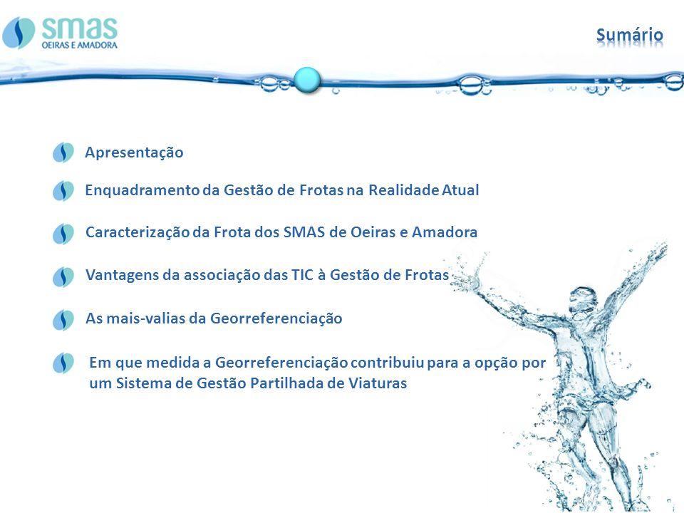 Sumário Enquadramento da Gestão de Frotas na Realidade Atual. Apresentação. Caracterização da Frota dos SMAS de Oeiras e Amadora.