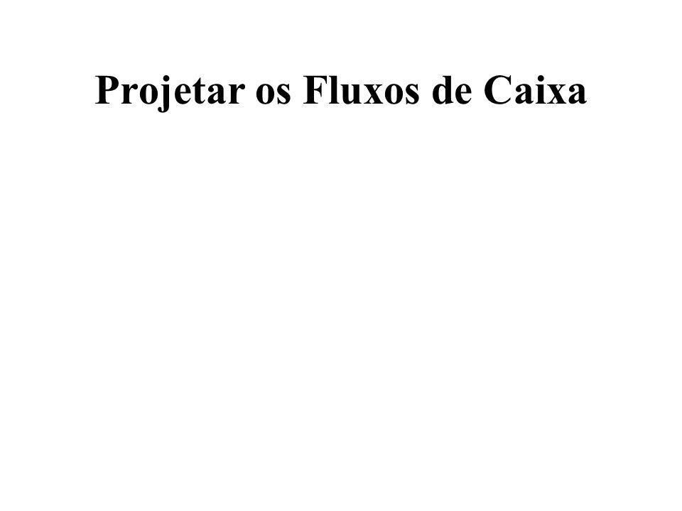 Projetar os Fluxos de Caixa