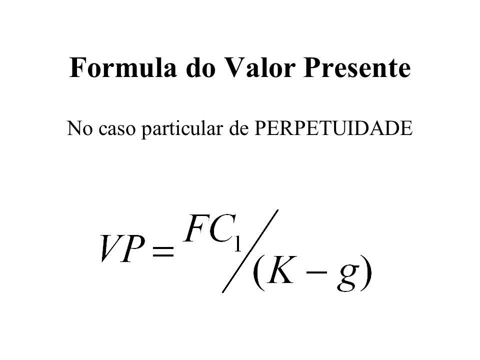 Formula do Valor Presente