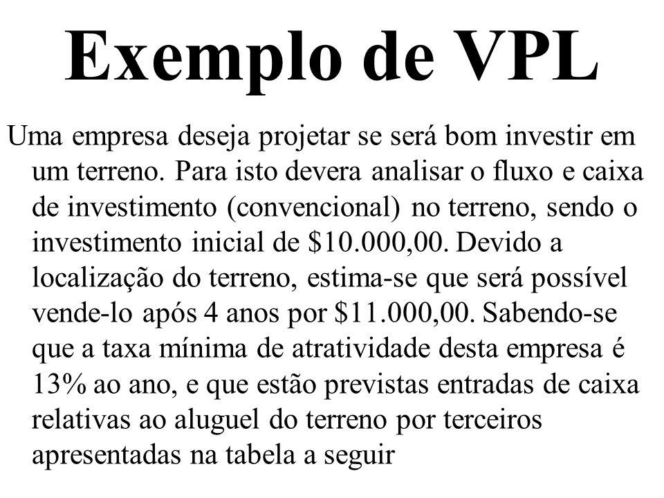 Exemplo de VPL