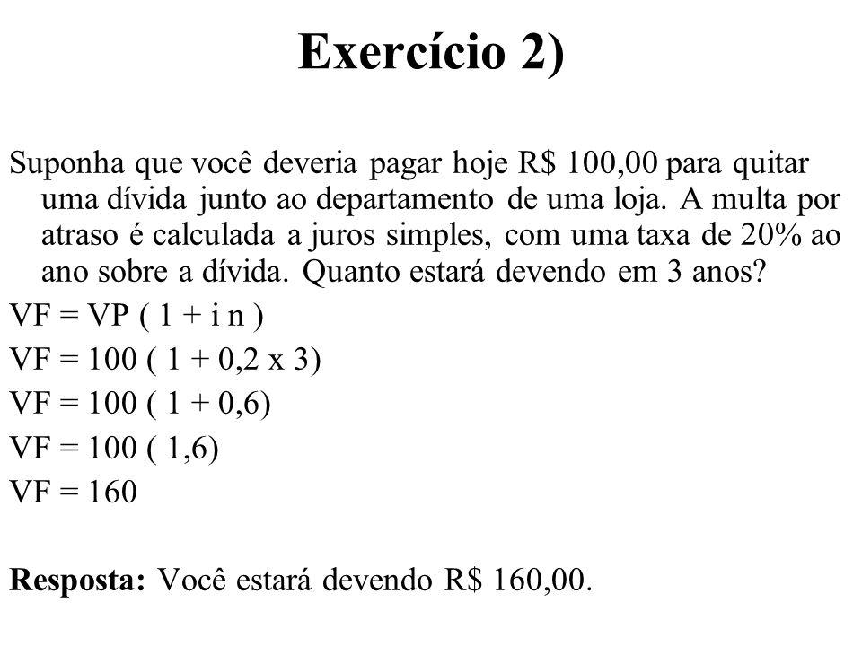 Exercício 2)