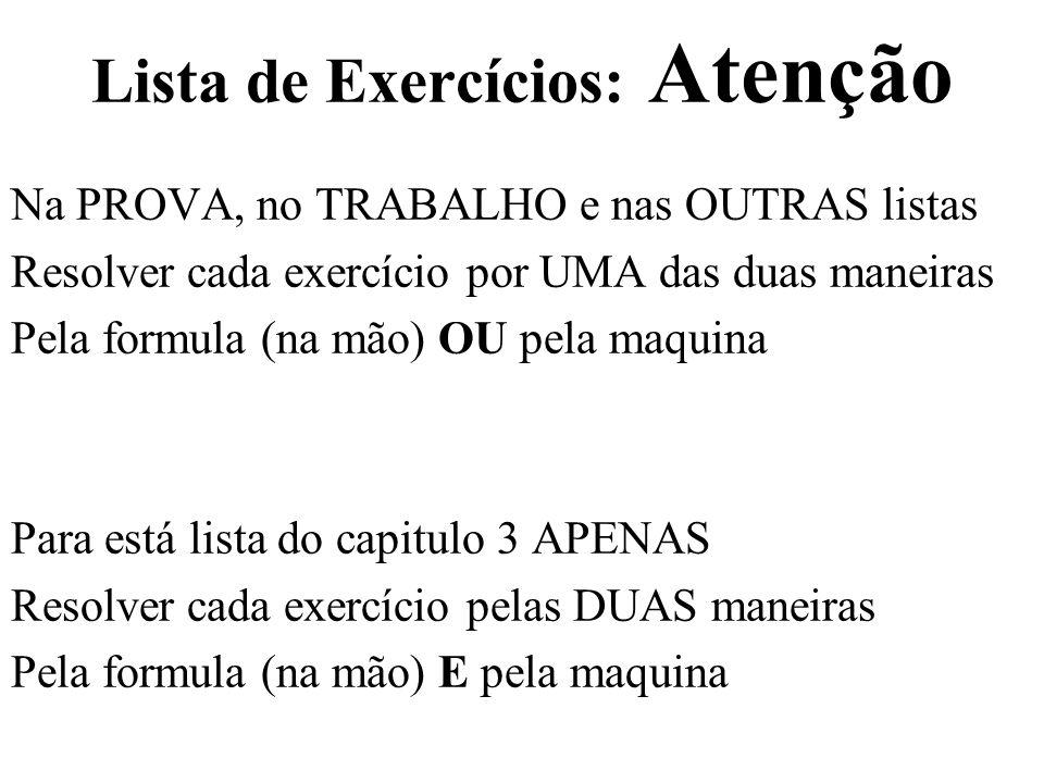 Lista de Exercícios: Atenção