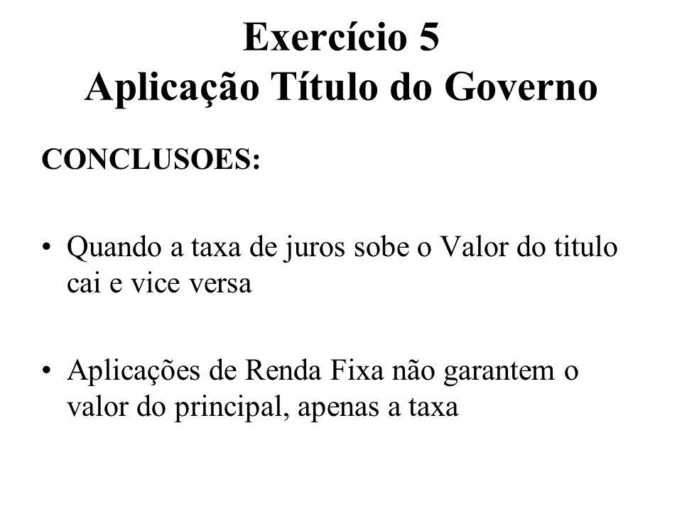 Exercício 5 Aplicação Título do Governo