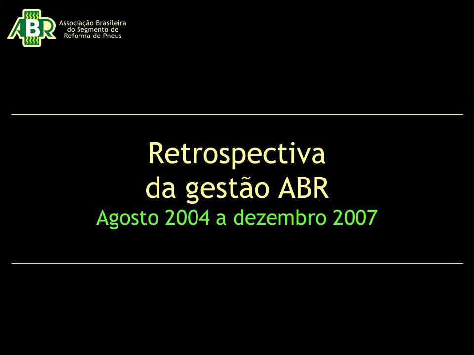 Retrospectiva da gestão ABR Agosto 2004 a dezembro 2007
