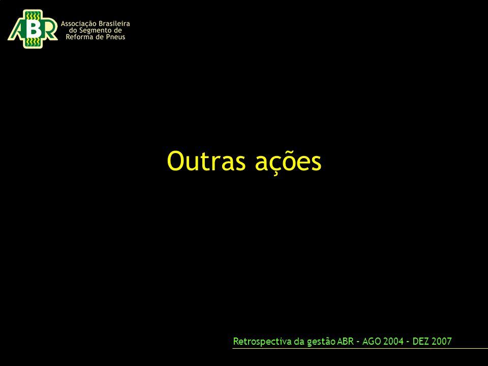 Outras ações Retrospectiva da gestão ABR – AGO 2004 – DEZ 2007