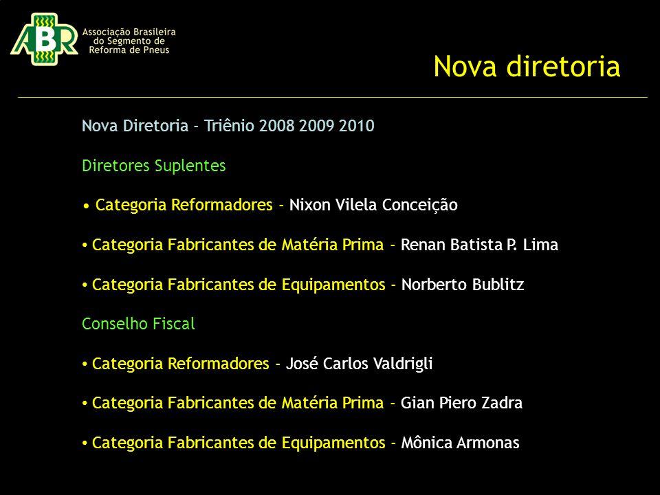 Nova diretoria Nova Diretoria - Triênio 2008 2009 2010