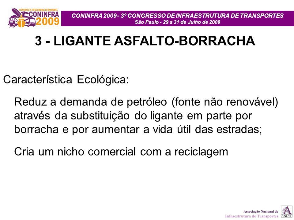 3 - LIGANTE ASFALTO-BORRACHA
