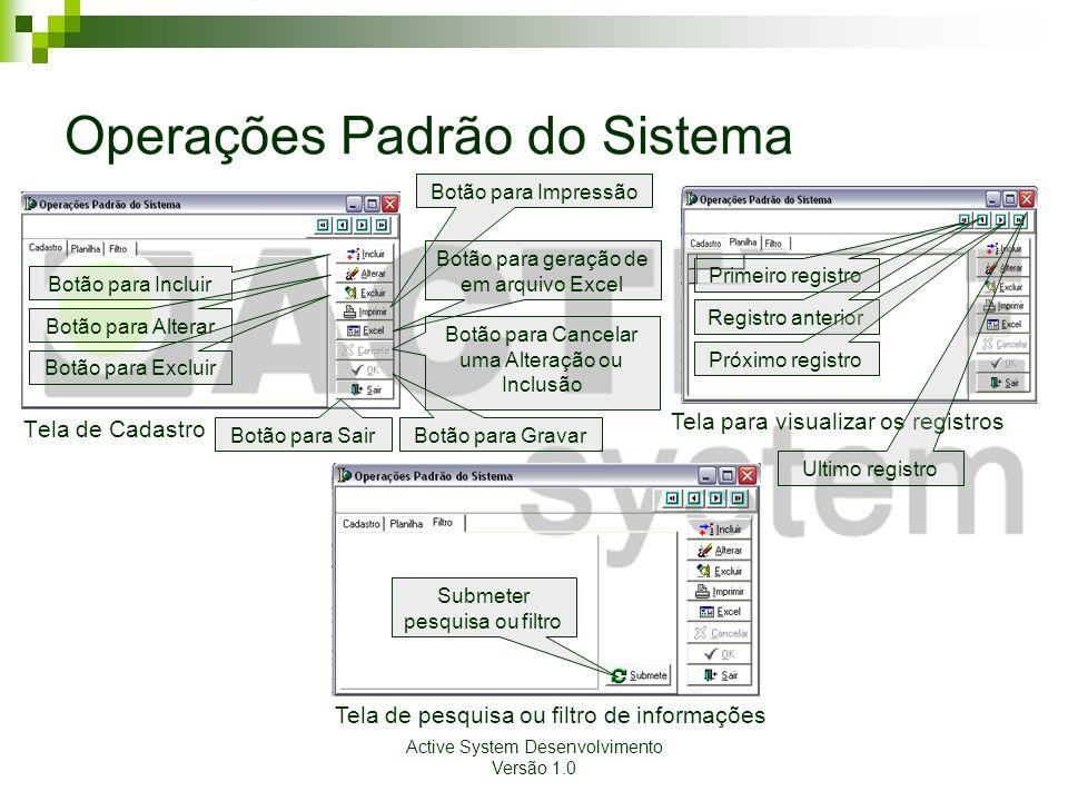 Operações Padrão do Sistema