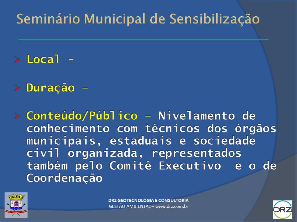 Seminário Municipal de Sensibilização