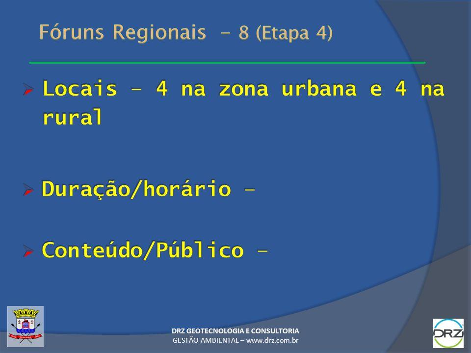 Fóruns Regionais - 8 (Etapa 4)