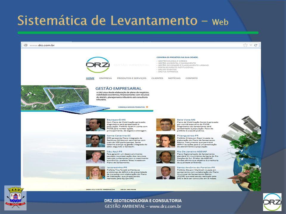 Sistemática de Levantamento - Web
