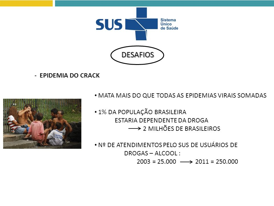 DESAFIOS - EPIDEMIA DO CRACK