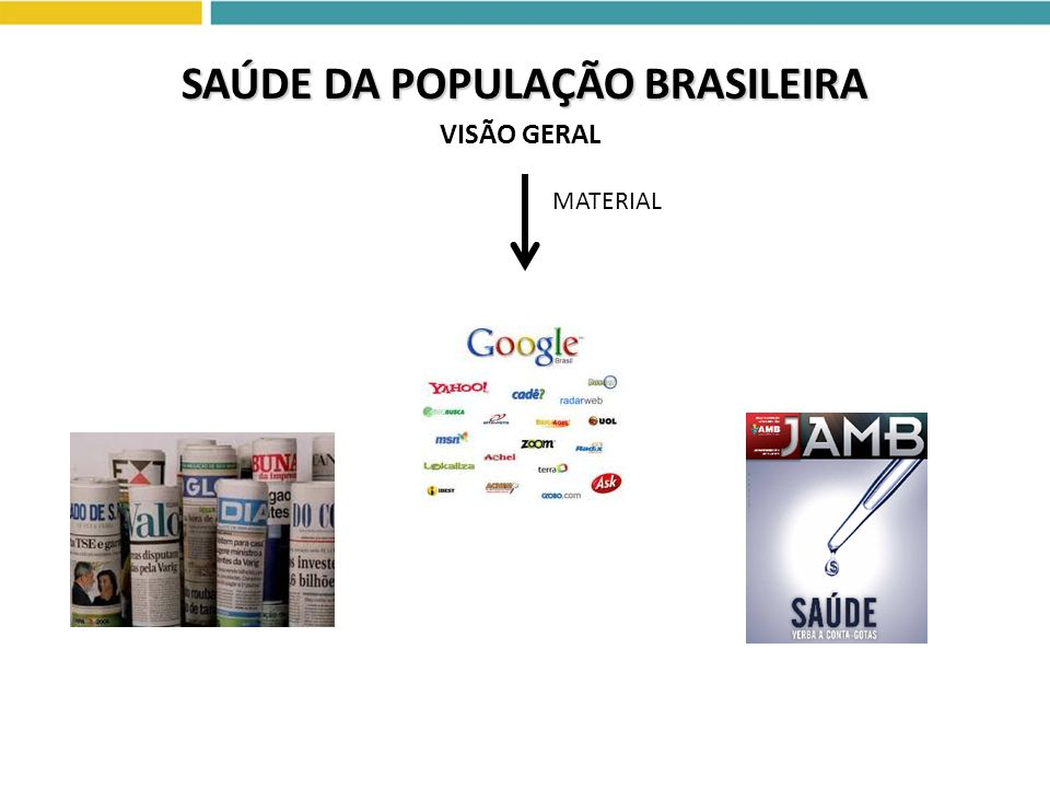 SAÚDE DA POPULAÇÃO BRASILEIRA VISÃO GERAL