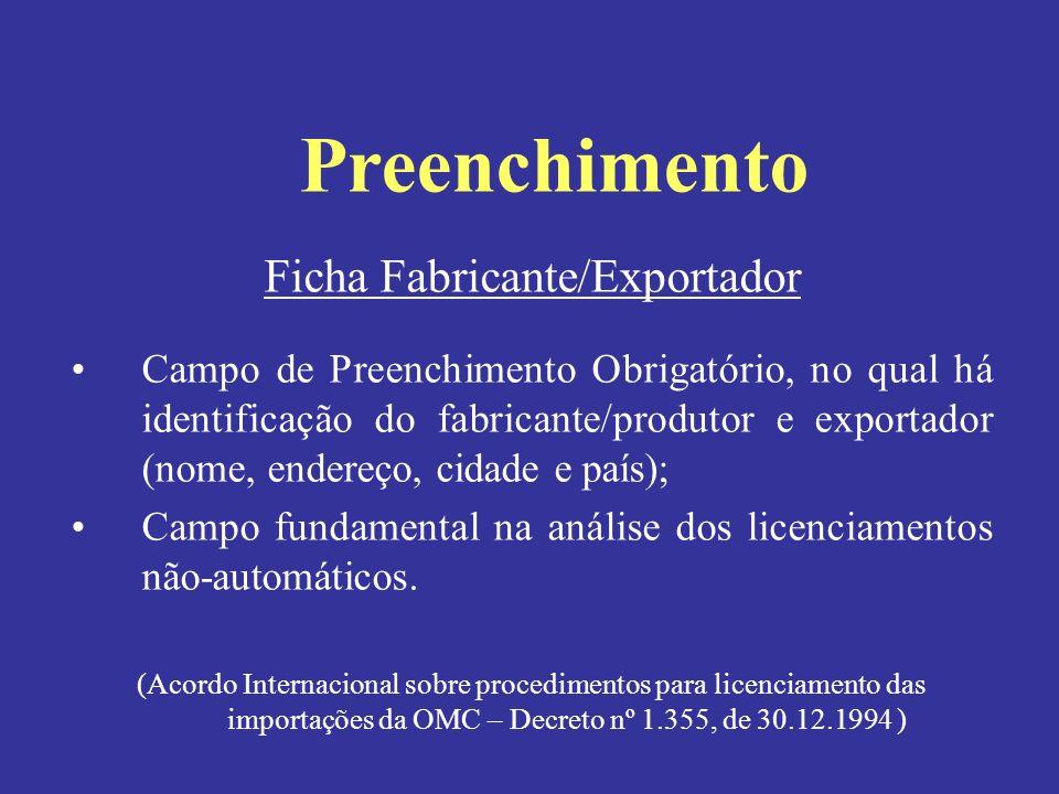 Ficha Fabricante/Exportador