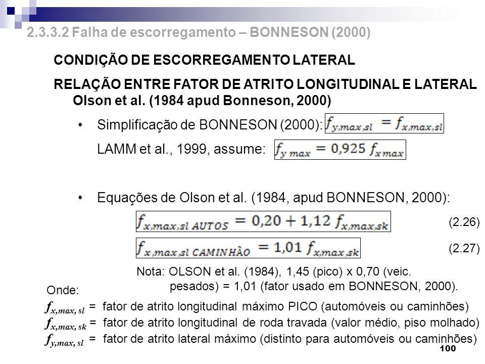 2.3.3.2 Falha de escorregamento – BONNESON (2000)