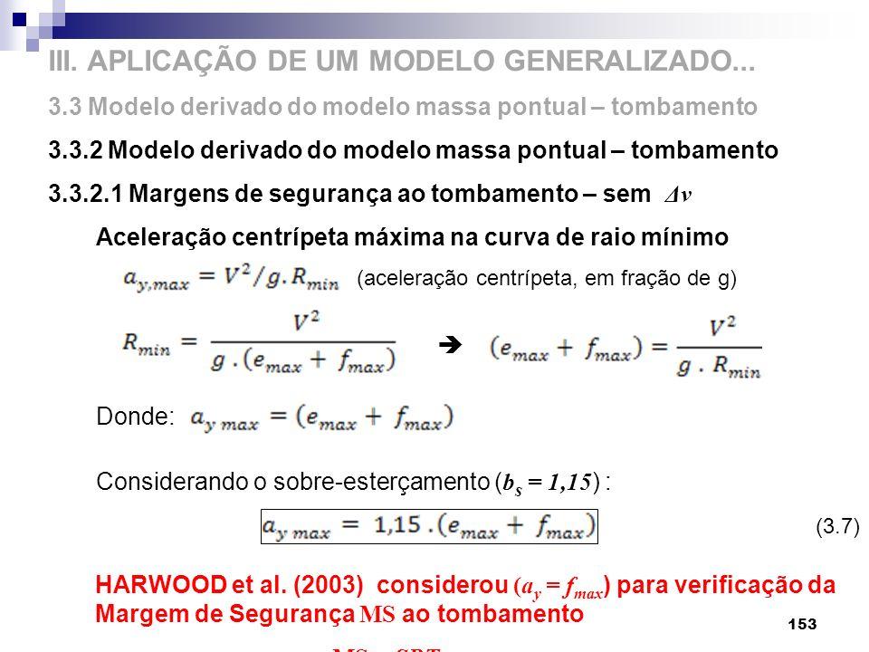 III. APLICAÇÃO DE UM MODELO GENERALIZADO...