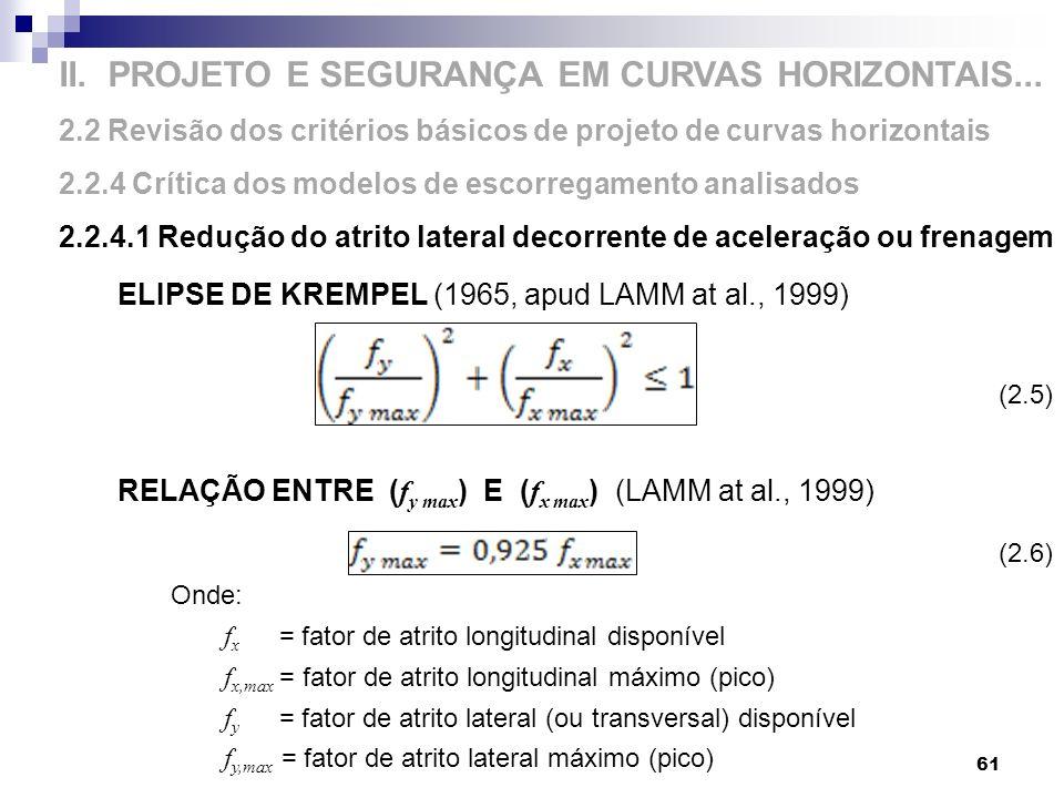 II. PROJETO E SEGURANÇA EM CURVAS HORIZONTAIS...