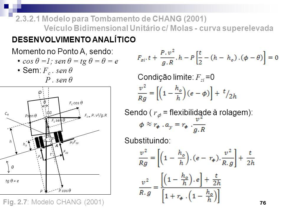 2.3.2.1 Modelo para Tombamento de CHANG (2001)
