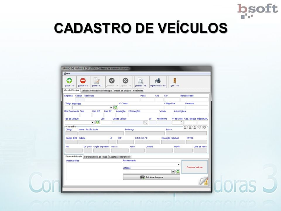 CADASTRO DE VEÍCULOS