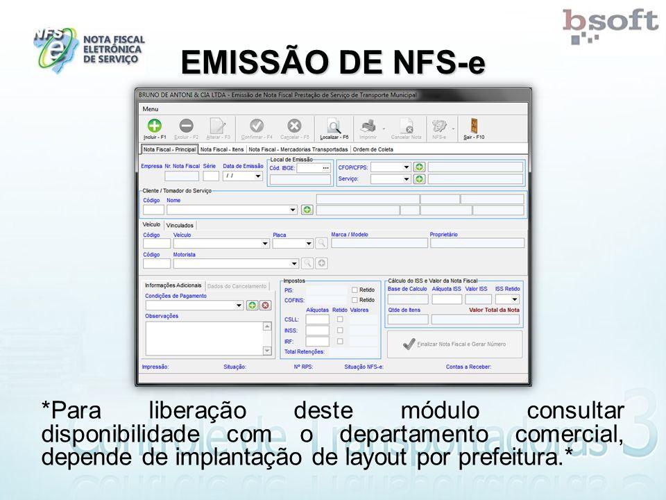 EMISSÃO DE NFS-e