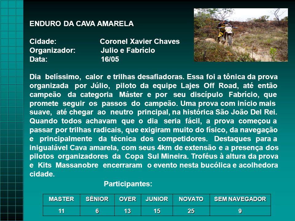 Cidade: Coronel Xavier Chaves Organizador: Julio e Fabrício