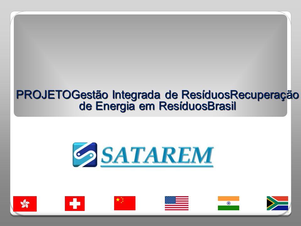 PROJETOGestão Integrada de ResíduosRecuperação de Energia em ResíduosBrasil