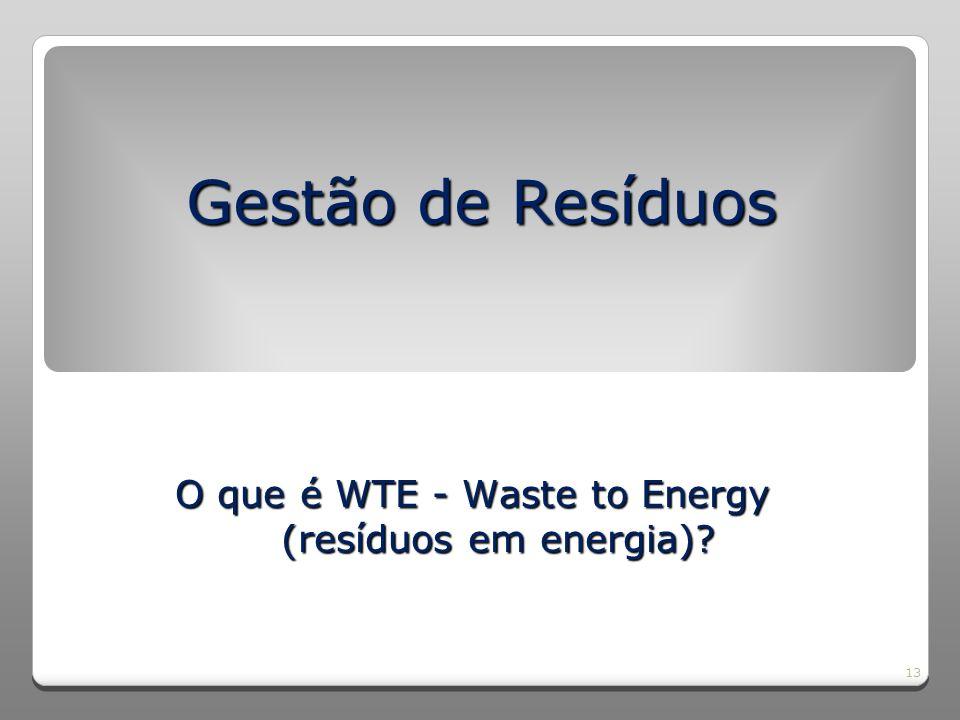 O que é WTE - Waste to Energy (resíduos em energia)