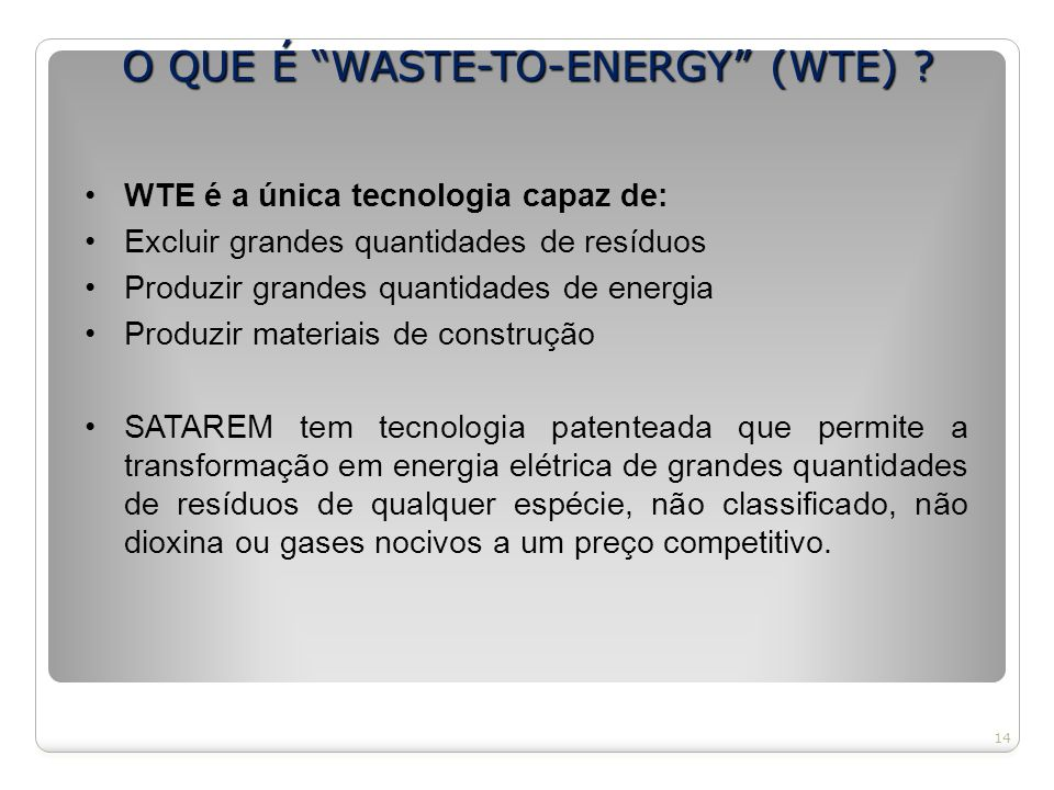O QUE É WASTE-TO-ENERGY (WTE)