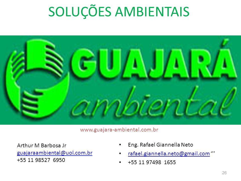 SOLUÇÕES AMBIENTAIS www.guajara-ambiental.com.br