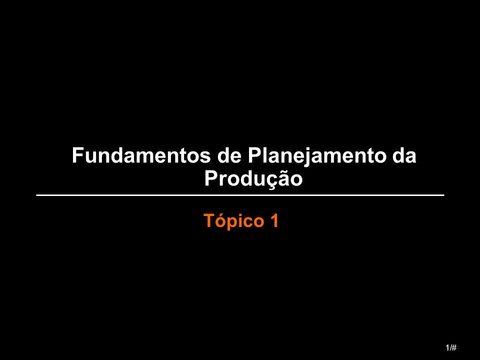 Fundamentos de Planejamento da Produção